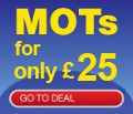 MOTs For Only £25