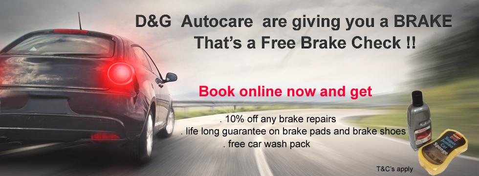d&g autocare free brake check