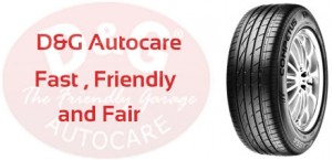 D&G Autocare tyres at Dunfermline, Kirkcaldy, Inverkeithing, Glenrothes, Stirling, Perth, Edinburgh, Livingston, Musselburgh and Whitburn.