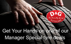 Manager Specail Offers on Tyres