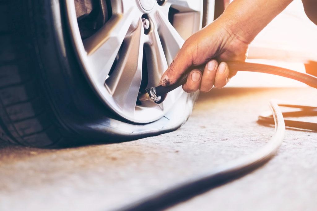 Repairing Flat Tyre