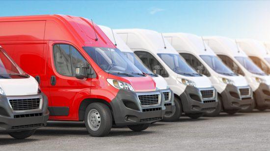 Fleet Services Row Of Vans